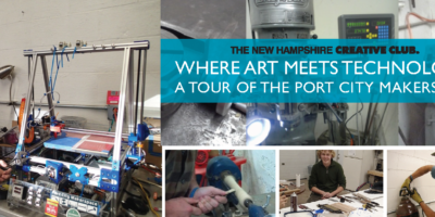 Graphic for New Hampshire Creative Club Port City Makerspace tour